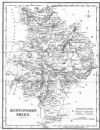 HUNTS : Huntingdonshire : Fullarton, 1844 map (q)